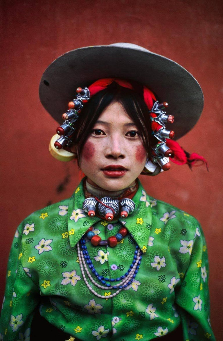 Steve McCurry Color Photograph - Woman At A Horse Festival, Tagong, Tibet