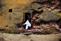 Steve McCurry 'Woman enters Medieval Rock-Hewn Church'