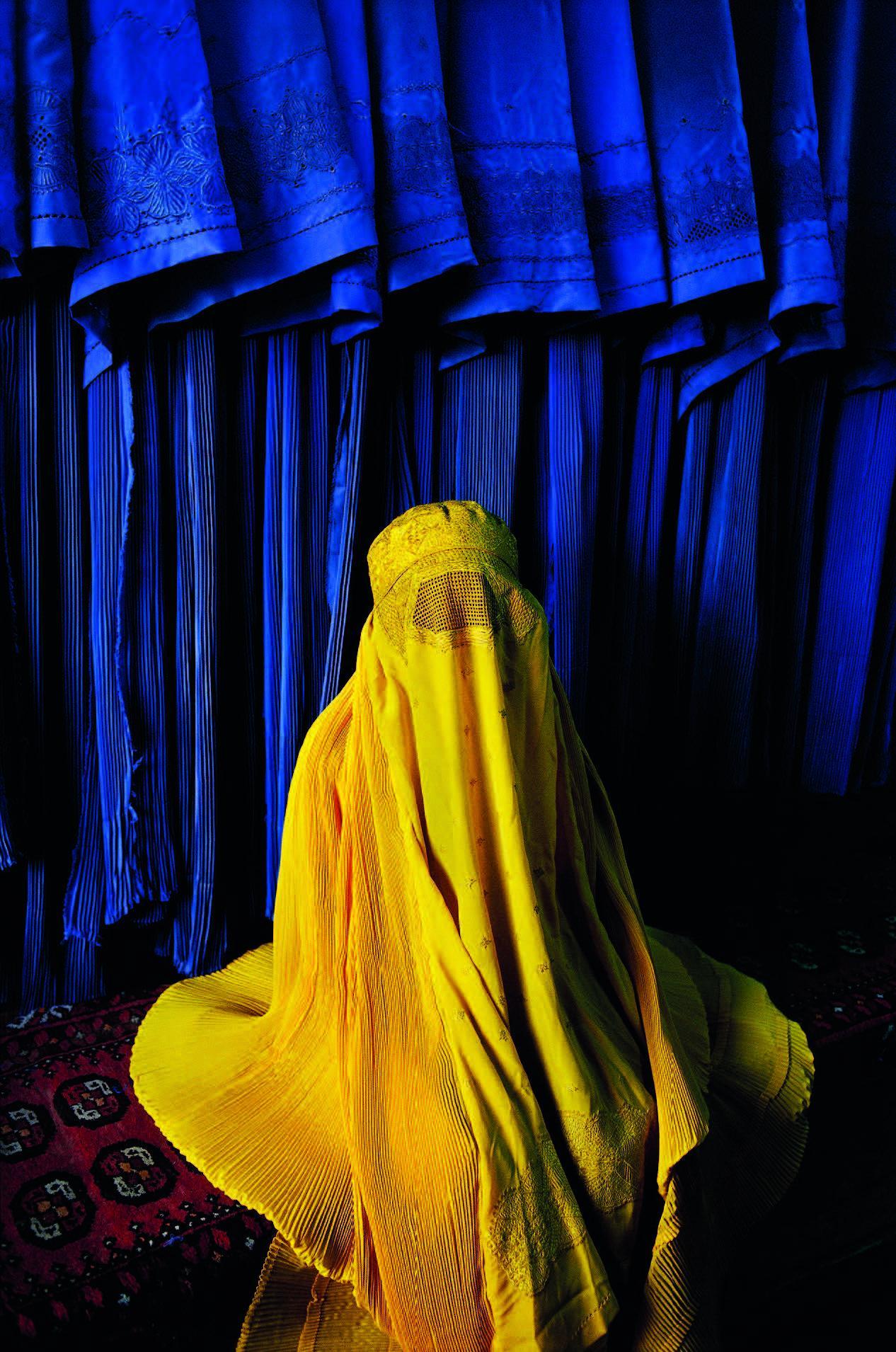 Woman in Canary Burqa