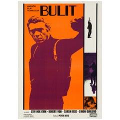 Steve McQueen 'Bullitt' Original Vintage Movie Poster, Yugoslavian, 1968