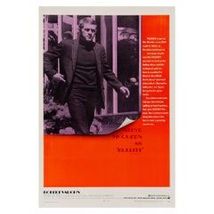 Steve McQueen 'Bullitt' Original Vintage US One Sheet Movie Poster, 1968
