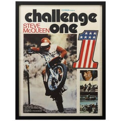 "Steve McQueen ""Challenge One"" on Any Sunday French Movie Poster, 1972"