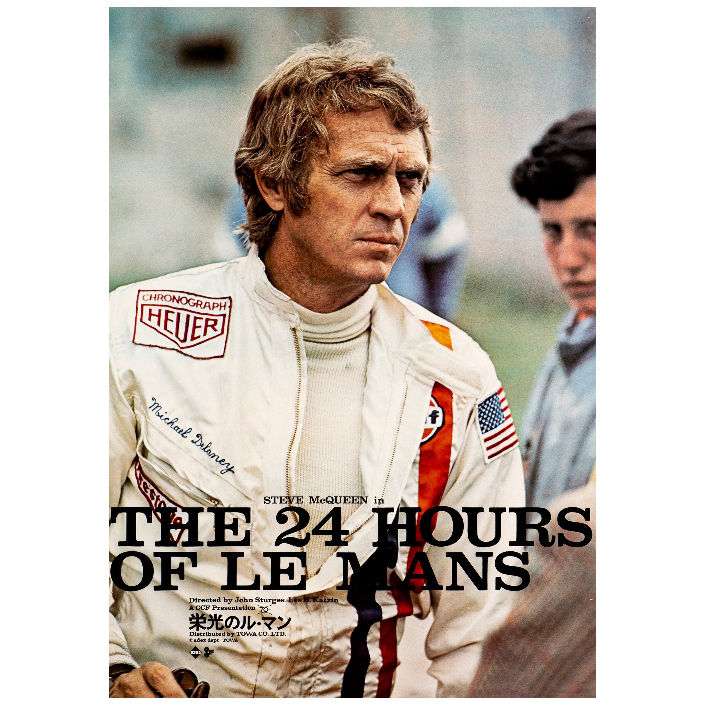 Steve McQueen 'Le Mans' Original Vintage Movie Poster, Japanese, 1971