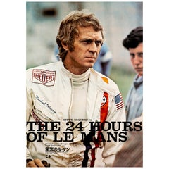 Steve McQueen 'Le Mans' Original Vintage Movie Poster, Japanese, 1971