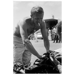 Steve McQueen Riverside Racetrack, California, 1963, Barry Feinstein Photograph