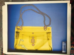 chanel xray yellow chic handbag