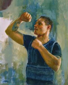 Regis Prograis, pro-boxer, oil, Contemporary Impressionistic,  Boxing, Sports