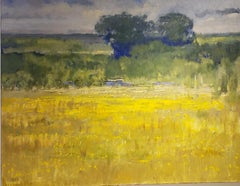Texas Field ,Texas landscape oil painting, Contemporary Impressionistic style