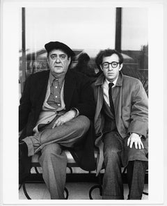 """Zero Mostel and Woody Allen chilling during filming the movie """"The Front"""""""
