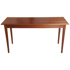 Steve Simko Hand Crafted Shaker Style Mahogany Sofa Console Table