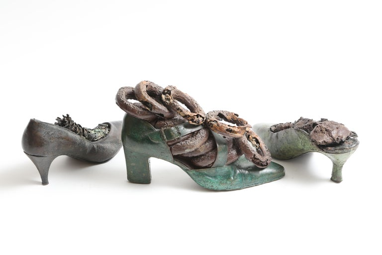 Steve Tobin Painted-Bronze Shoe Sculptures For Sale 5