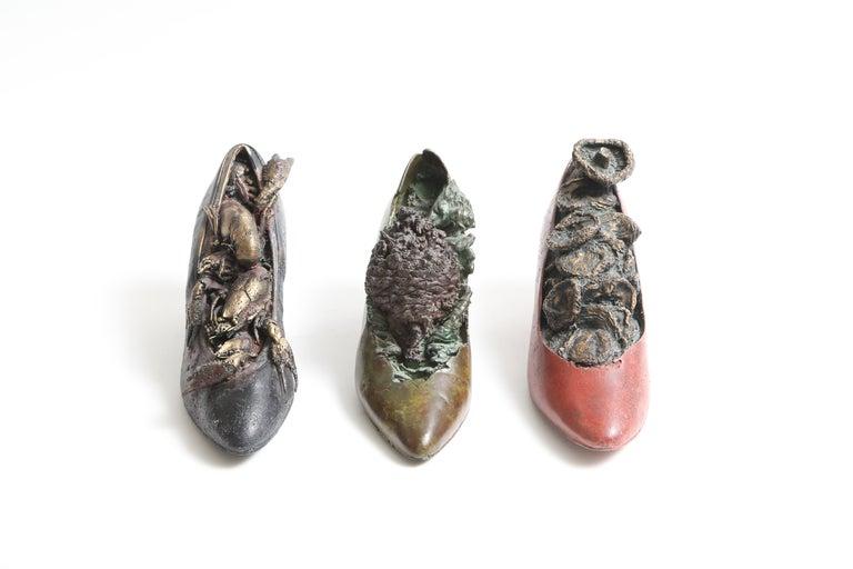 Steve Tobin Painted-Bronze Shoe Sculptures For Sale 1