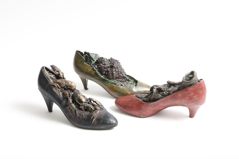 Steve Tobin Painted-Bronze Shoe Sculptures For Sale 2