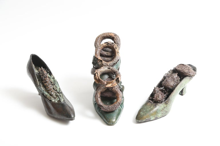 Steve Tobin Painted-Bronze Shoe Sculptures For Sale 4
