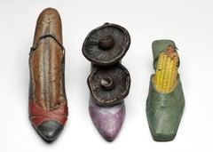 3 Shoes - bronze shoe sculpture set