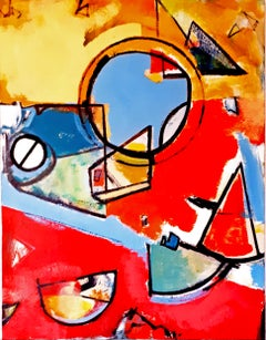 Circle of Life by Steve Williams - Red Abstract Contemporary Painting