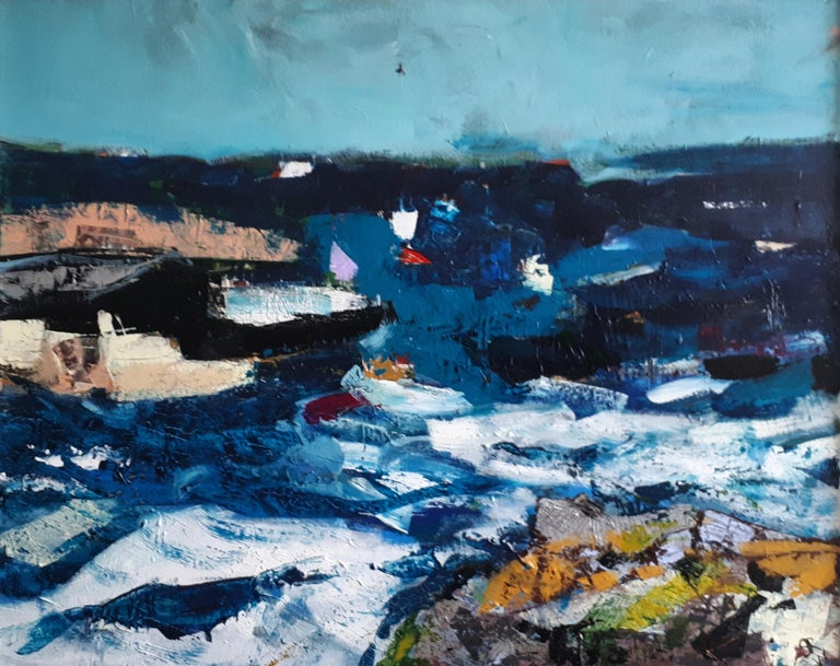 steve williams the sea brings me home abstract seascape painting