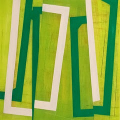 "Steven Baris ""Jump Cut D11"" - Abstract oil painting on Mylar"