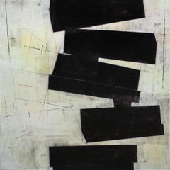 """Steven Baris """"Toppling A16"""" - Abstract oil painting on Mylar"""