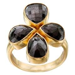 Steven Battelle 7.4 Carats Black Diamond Multi-Stone 18K Ring