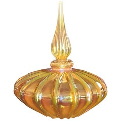 Steven Correia Bulbous Art Glass Perfume Bottle