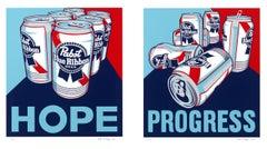 Hope - Progress, Pop Art Screenprints