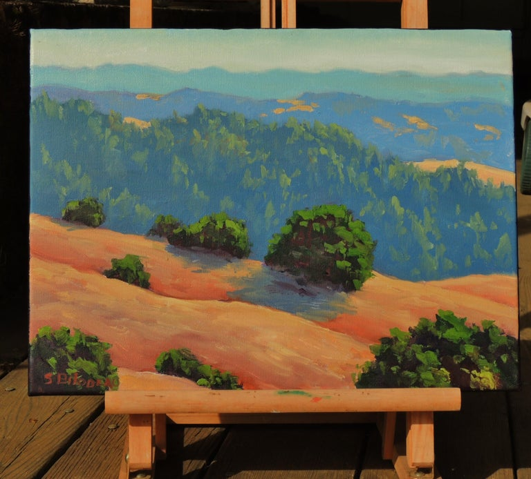 Distant Hills - American Realist Painting by Steven Guy Bilodeau