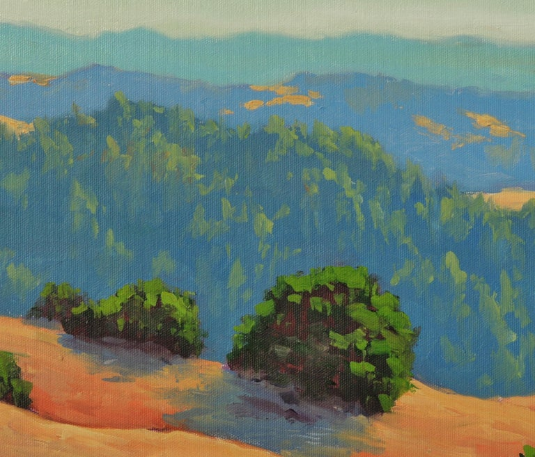 Distant Hills - Gray Landscape Painting by Steven Guy Bilodeau