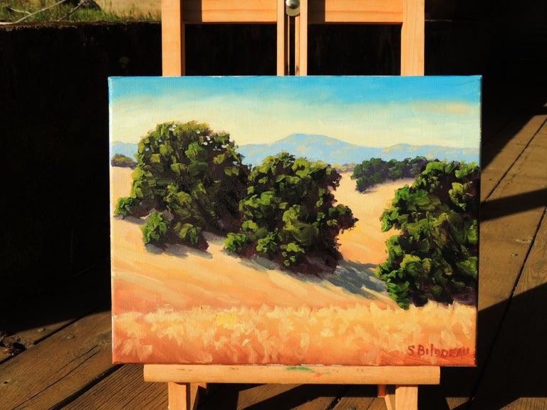 Quiet Fields - American Realist Painting by Steven Guy Bilodeau