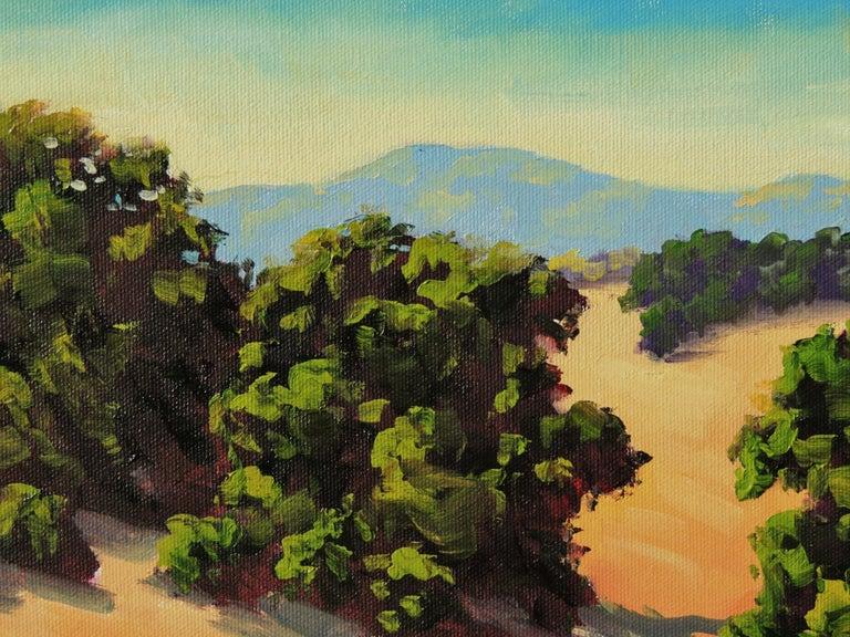 Quiet Fields - Beige Landscape Painting by Steven Guy Bilodeau