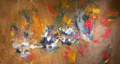 """""""Birds And Bees"""" oil saw dust and foam on wood by Steven Rehfeld"""