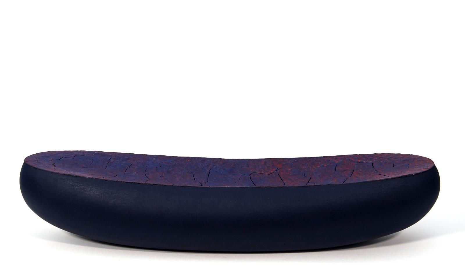 Ellesmere - black, purple, orange, textured, ceramic tabletop vessel