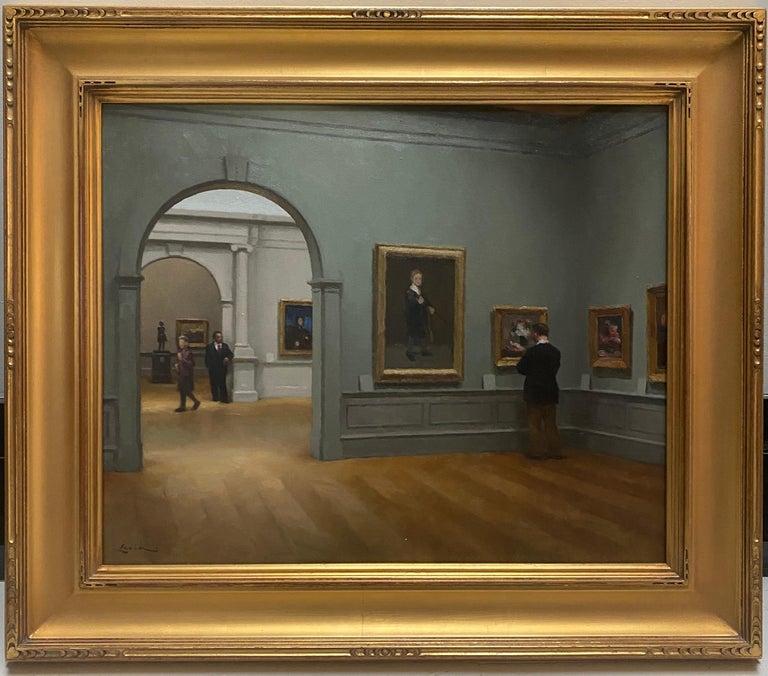 Steven J. Levin Interior Painting - Met Museum, Impressionist Room