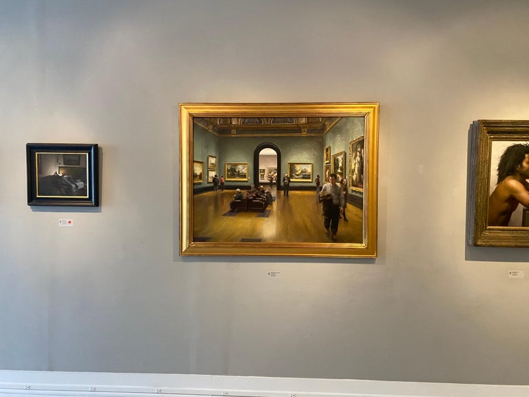 National Gallery, London - American Realist Painting by Steven J. Levin