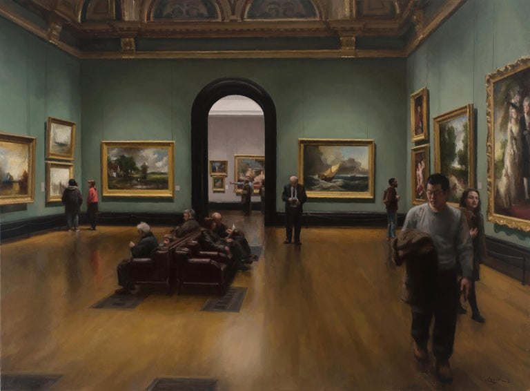 Steven J. Levin Interior Painting - National Gallery, London