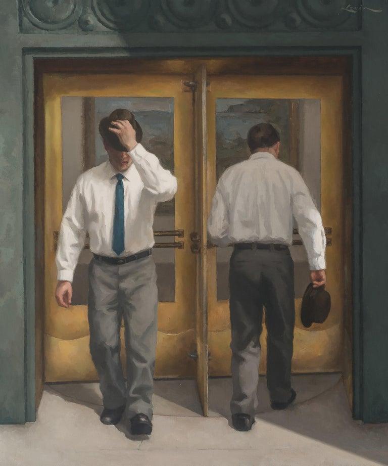 Steven J. Levin Portrait Painting - Revolving Door 3