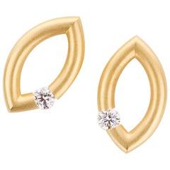 Steven Kretchmer Yellow Gold Mango Tension-set Diamond Earrings