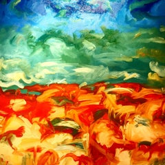 Sky Sea Earth, Painting, Oil on Canvas
