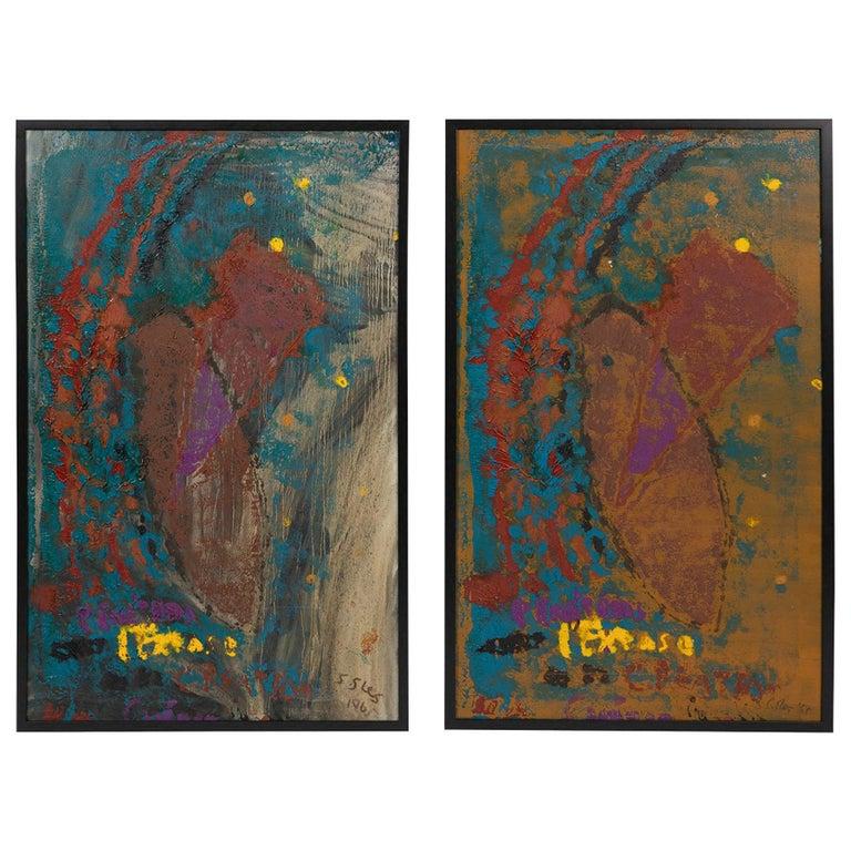 Steven Sles Diptych Paintings