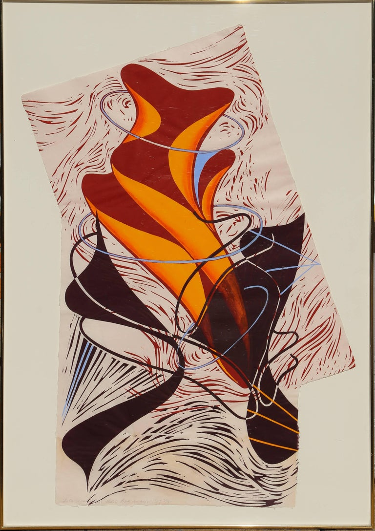 Steven Sorman Abstract Print - Those from away (VII)
