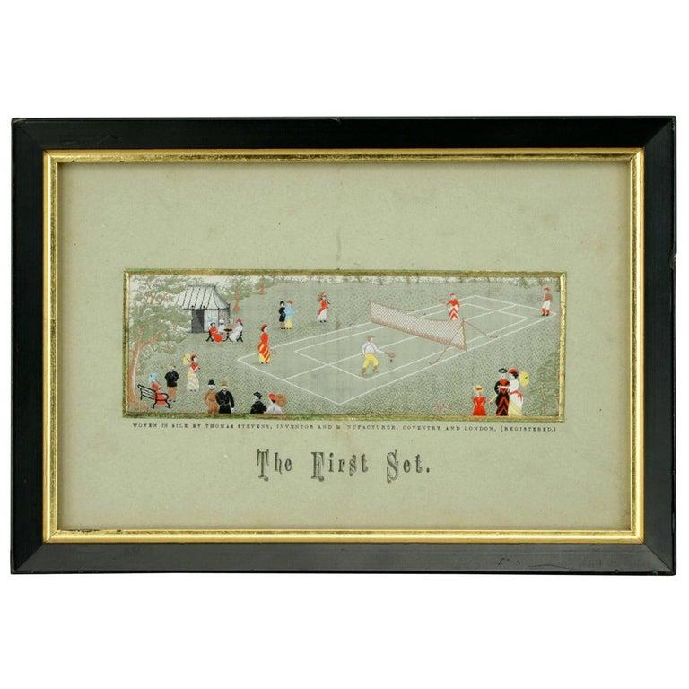 Stevengraph, a Tennis Match, the First Set For Sale