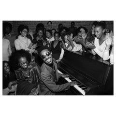 Stevie Wonder at the Dance Theater of Harlem, NYC, 1976, Allan Tannenbaum