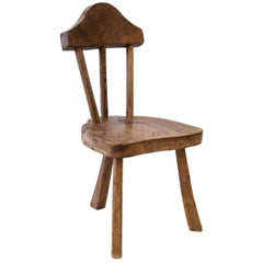 Stick Back Chair in Mid-Brown Oak