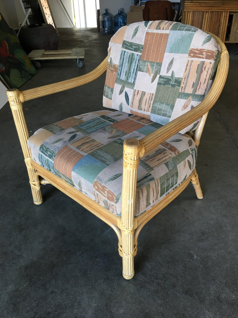 Stick Rattan Lounge Chair with