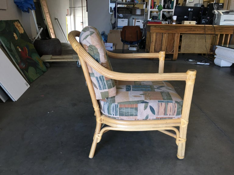 American Stick Rattan Lounge Chair with