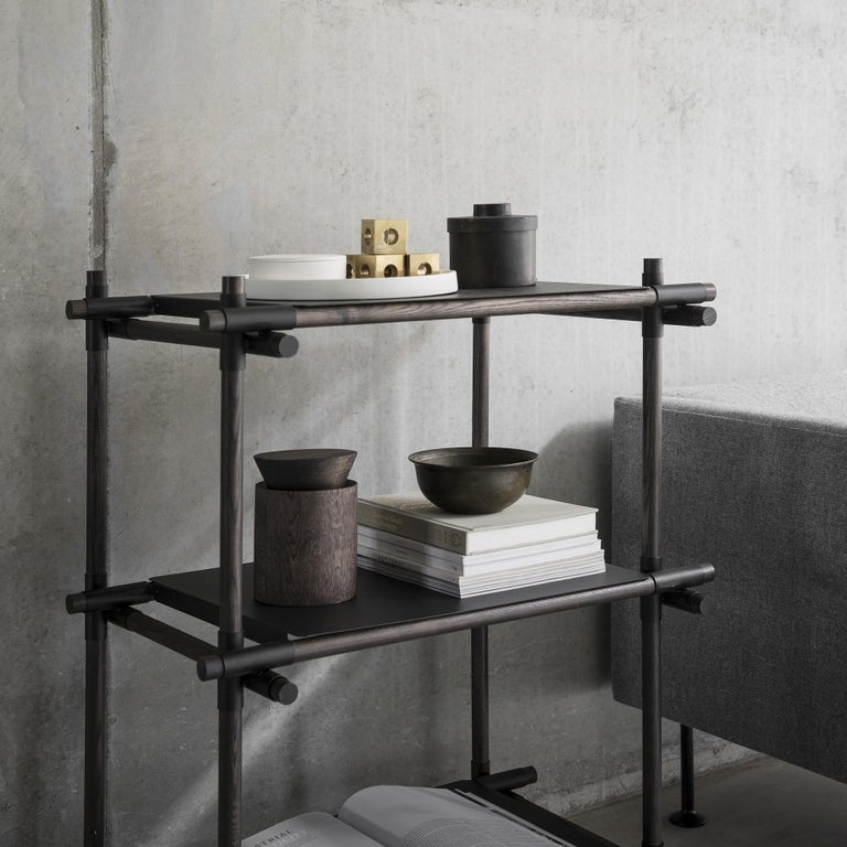 A shelving solution designed to meet the needs of the young generation, mobile and on the move. Stick system can be extended and adapted to suit any space it inhabits. Cleverly designed with maximum attention to detail, it is the creation of
