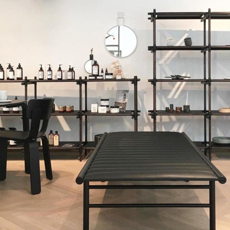 Steel Stick System, Dark Ash Shelves with Black Poles, 3x5 For Sale