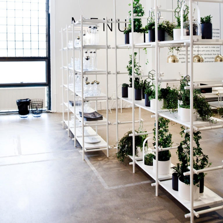 Stick System, White Shelves with White Poles, 3x4 For Sale 3