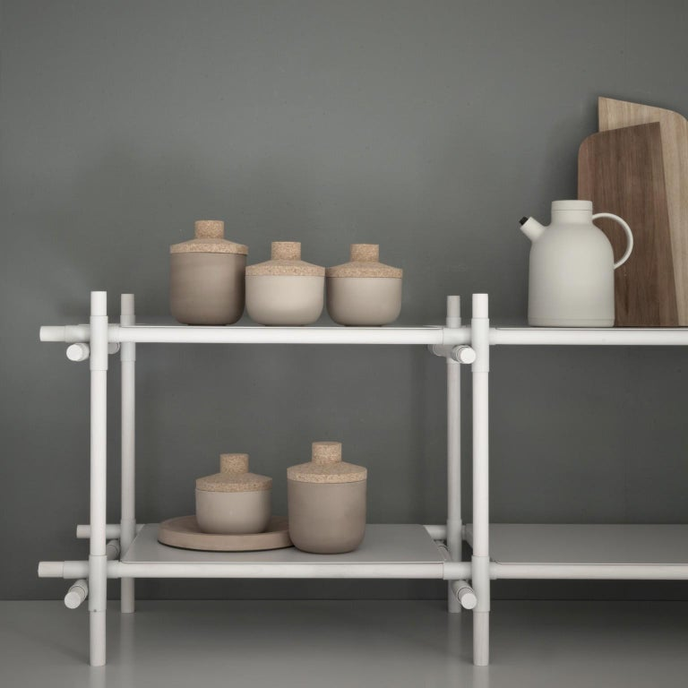 Stick System, White Shelves with White Poles, 3x4 For Sale 6