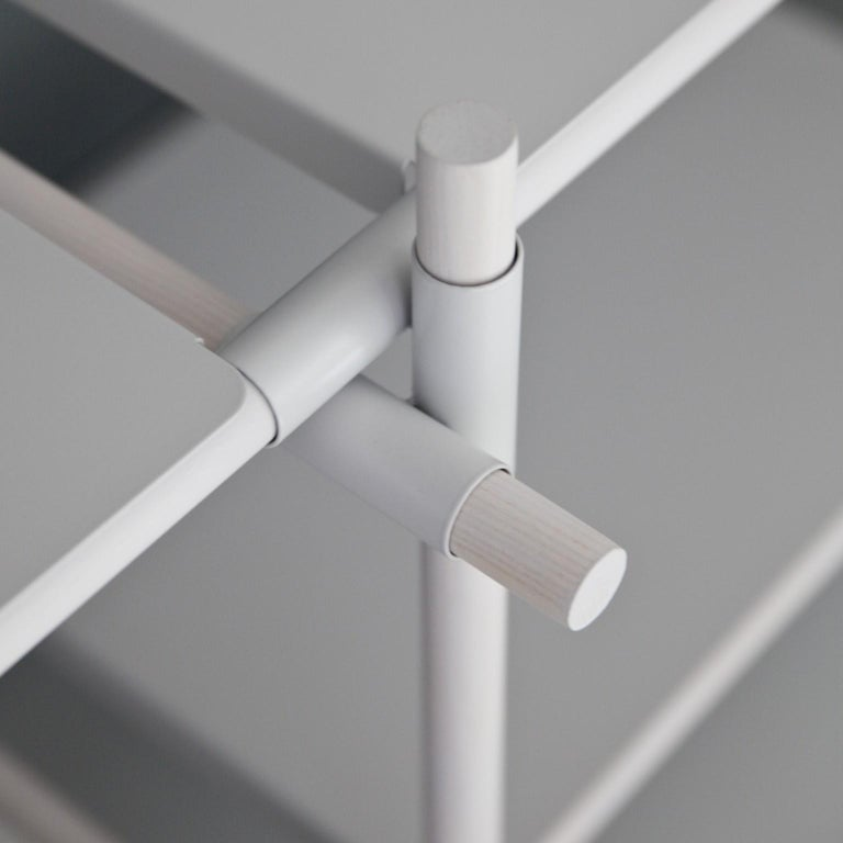 European Stick System, White Shelves with White Poles, 3x5 For Sale